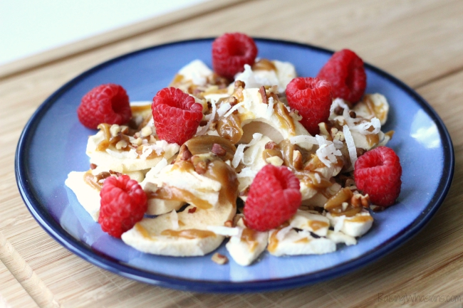 Apple chip nachos recipe Apple Chip Nachos Recipe | Power Your Lunchbox Pledge - a healthy twist on a classic munchie is perfect for an after school snack. Gluten free, dairy free #Recipe #GlutenFree #DairyFree #HealthyRecipe #Snack