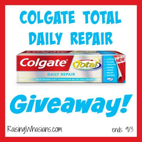 Colgate total daily repair kit giveaway