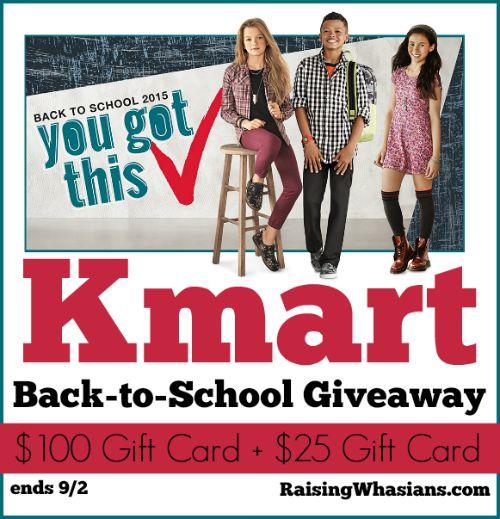 Kmart back to school giveaway