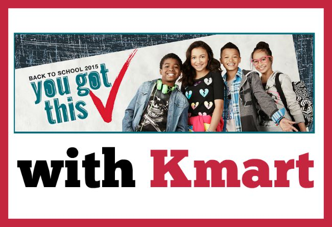 Save on back to school essentials at Kmart