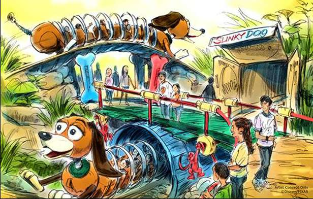 Slinky dog family coaster Disney world