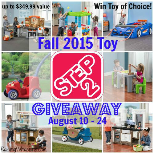 Step2 fall toy giveaway