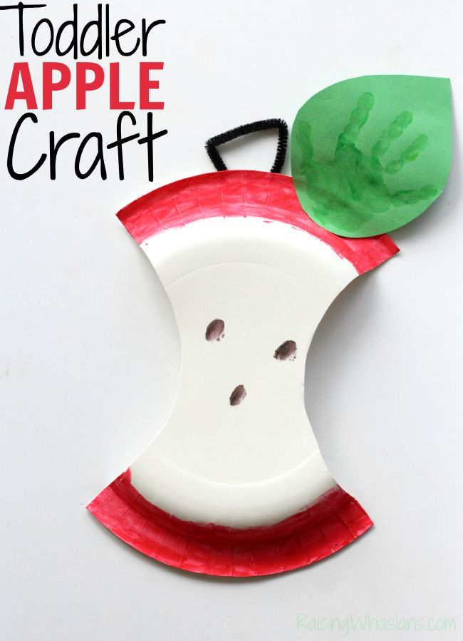 Toddler apple craft