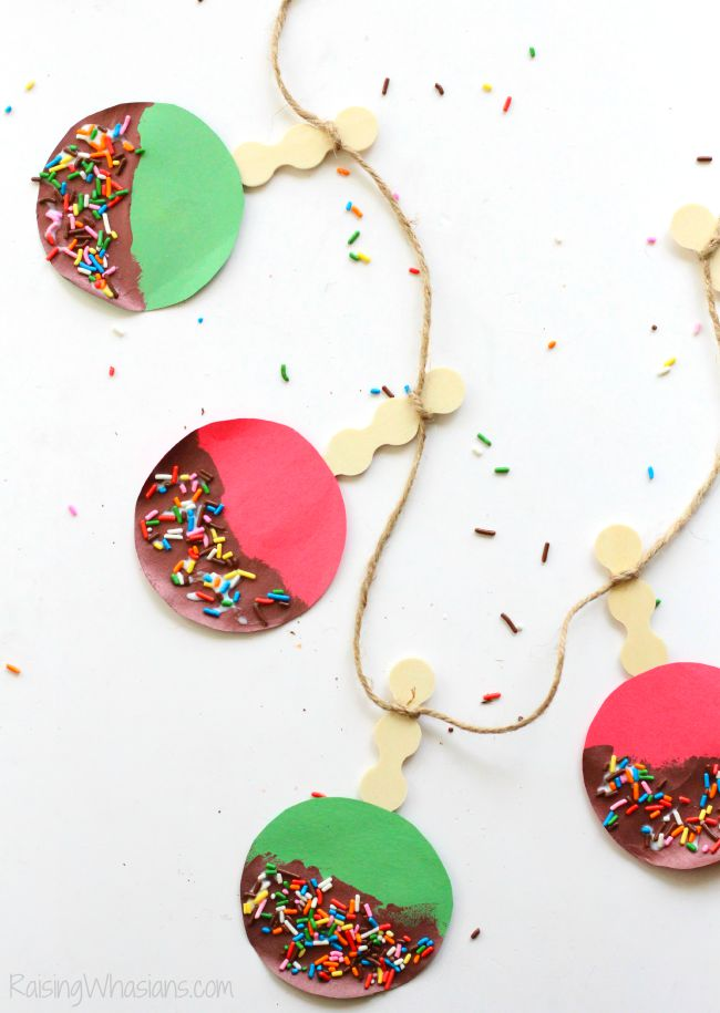Caramel apple craft for toddlers