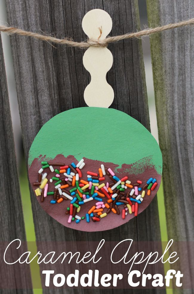 Caramel apple toddler craft