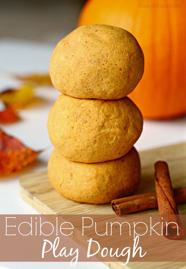 Edible pumpkin play dough diy fall play date