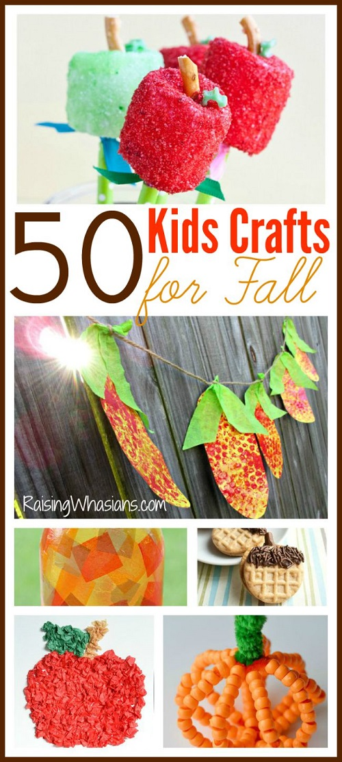 Fall kids crafts roundup