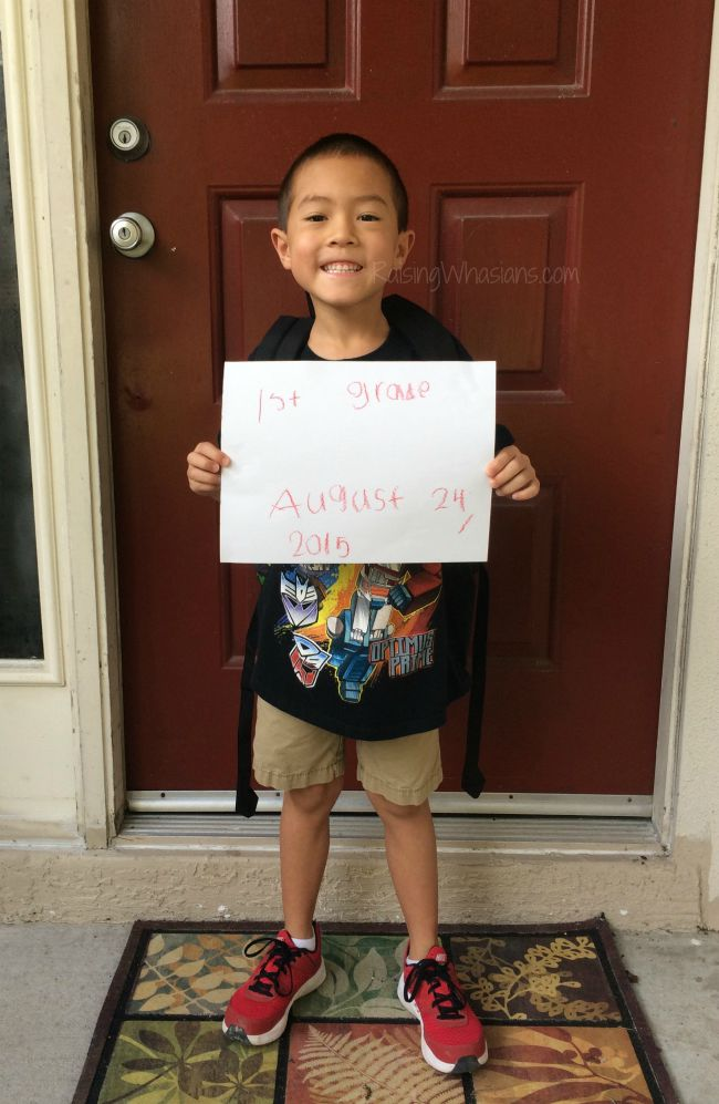 First day of first grade lessons for mom