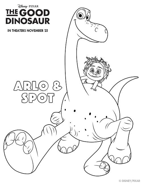 The good dinosaur free coloring sheets