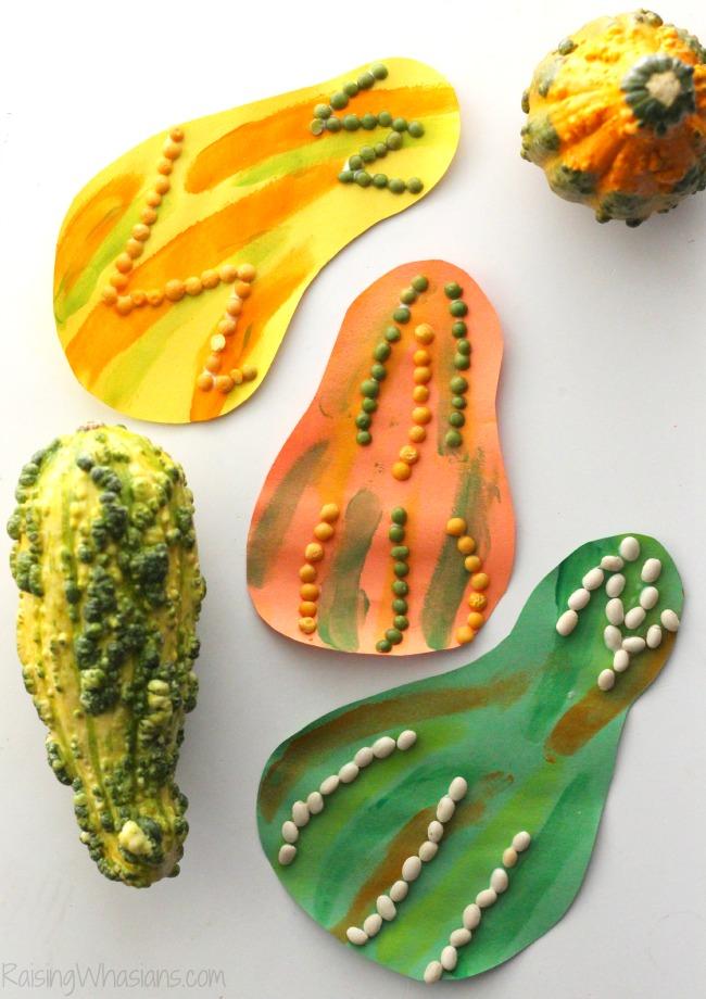 Fall kids craft gourd
