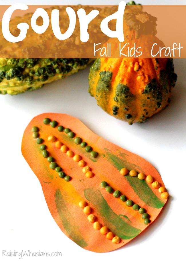 Gourd fall kids craft