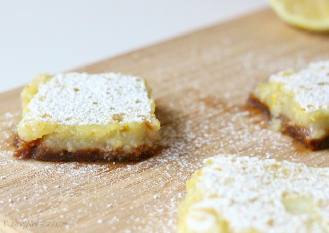 Pumpkin spice crust lemon bars