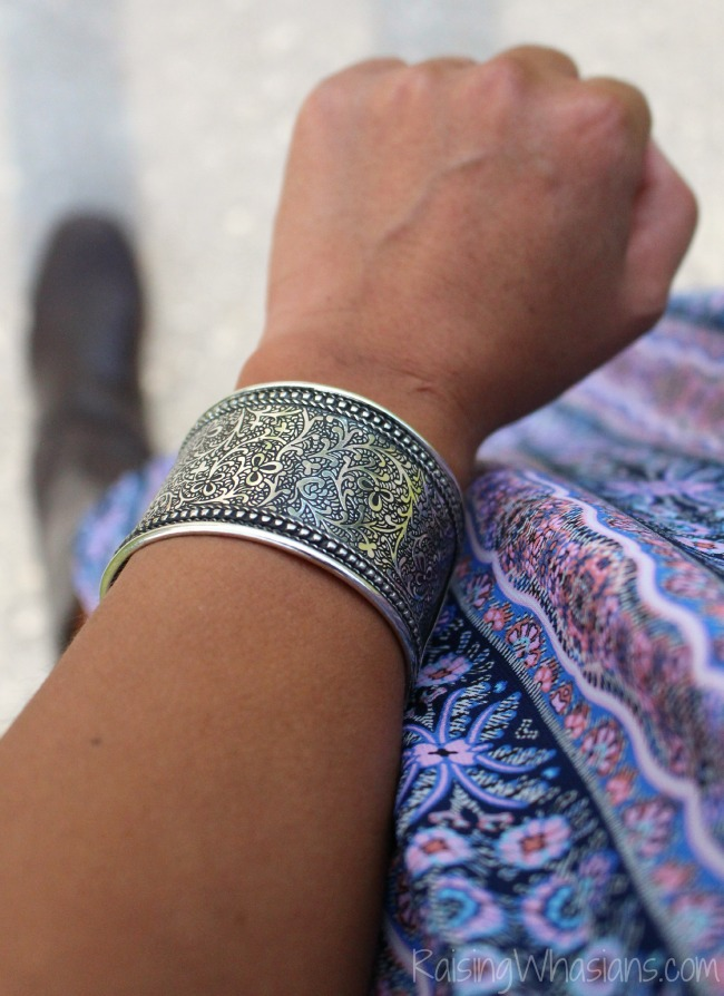 Silver cuff bracelet world vision