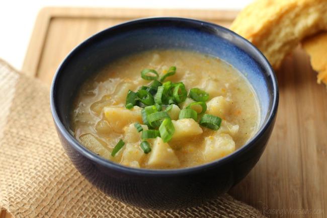 Crockpot Creamy Potato Soup Recipe - Raising Whasians