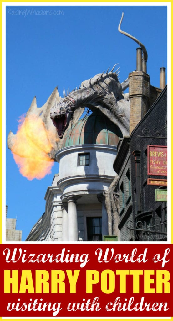 Wizarding world of harry potter with kids