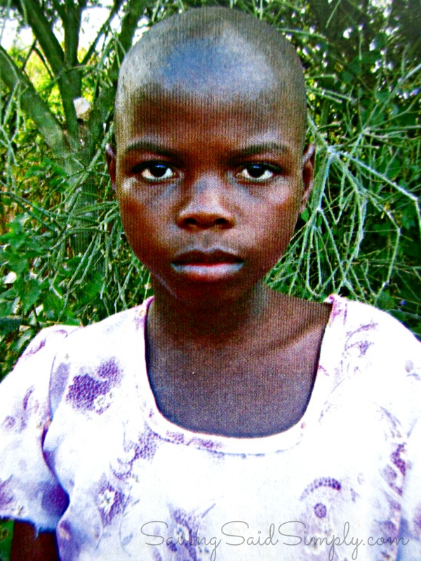 World vision sponsored child