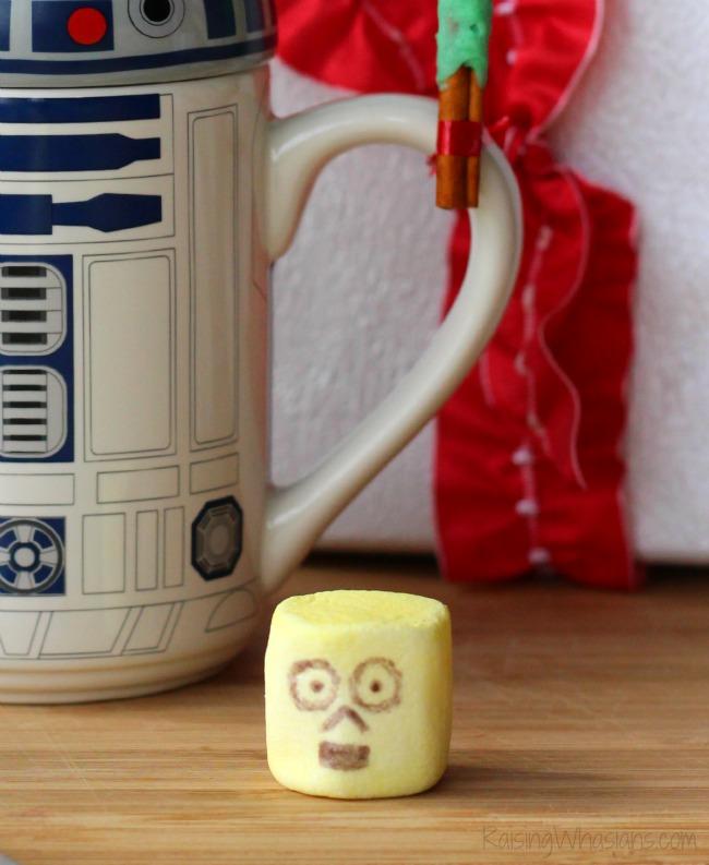 C-3PO marshmallow diy