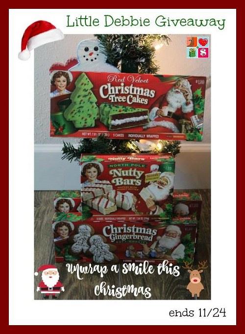 Christmas little debbie giveaway