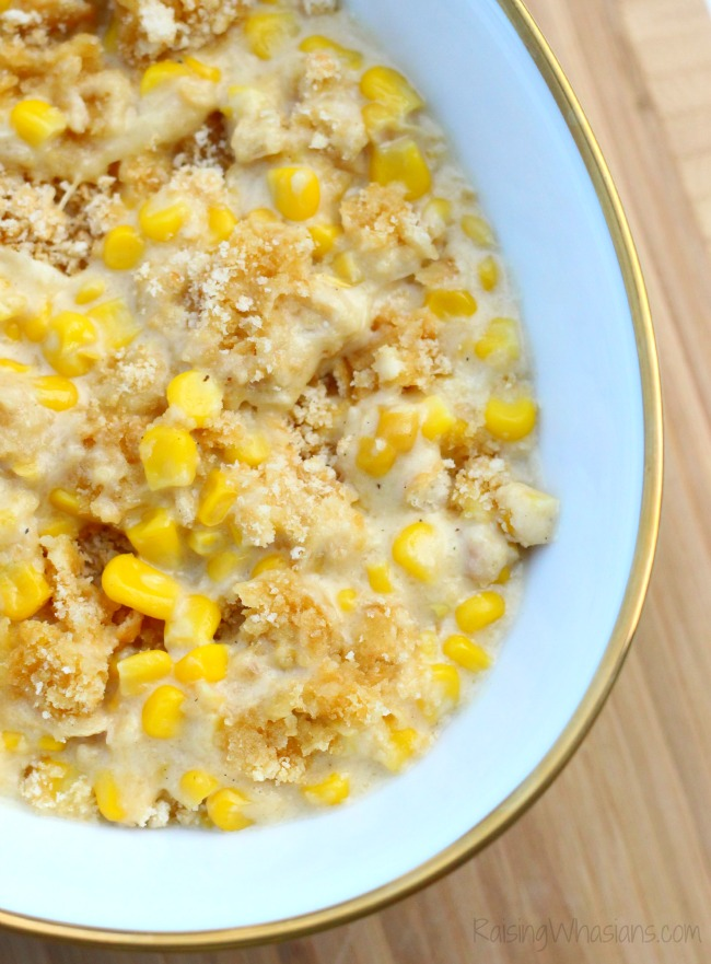 Crock pot corn casserole Make ahead corn casserole Crockpot Corn Casserole Recipe + Thanksgiving Prep Tips | Make ahead easy crock pot corn casserole recipe + Thanksgiving prep tips for easy meal planning - This slow cooker corn casserole recipe is perfect as a time saving dish for any occasion - #Recipe #SlowCookerRecipe #MealPlanning