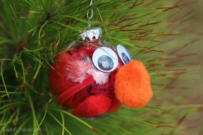 Elmo ornament DIY