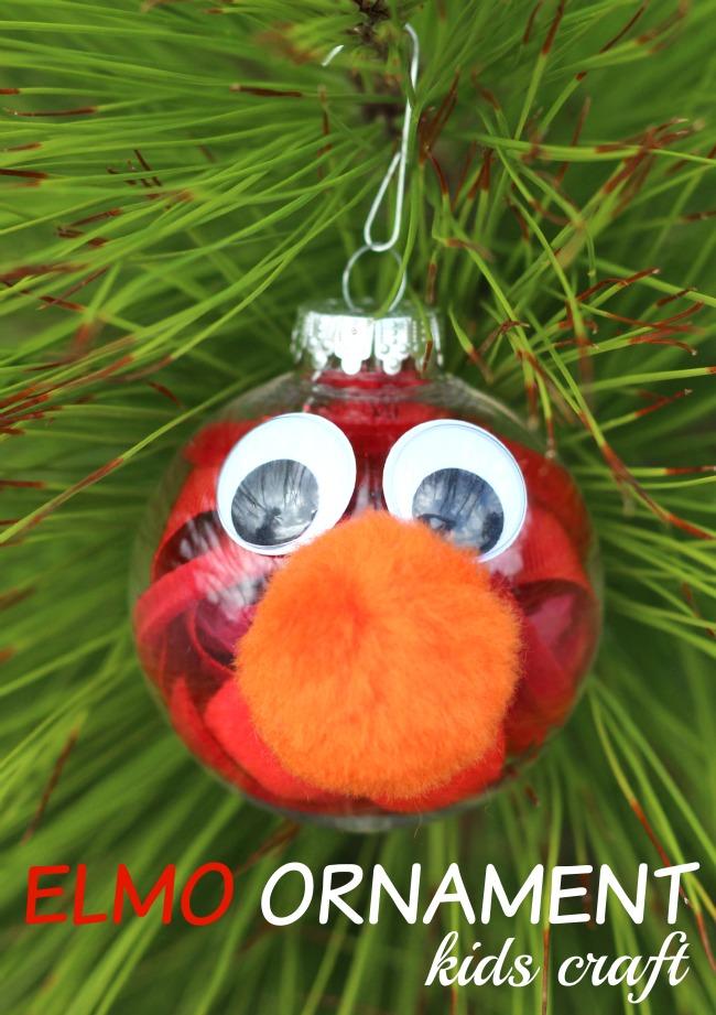 Elmo ornament kids craft