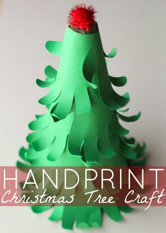 Easy 3d Handprint Christmas Tree Craft