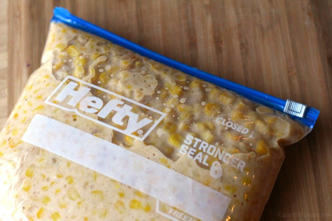Hefty freezer bags review Make ahead corn casserole Crockpot Corn Casserole Recipe + Thanksgiving Prep Tips | Make ahead easy crock pot corn casserole recipe + Thanksgiving prep tips for easy meal planning - This slow cooker corn casserole recipe is perfect as a time saving dish for any occasion - #Recipe #SlowCookerRecipe #MealPlanning
