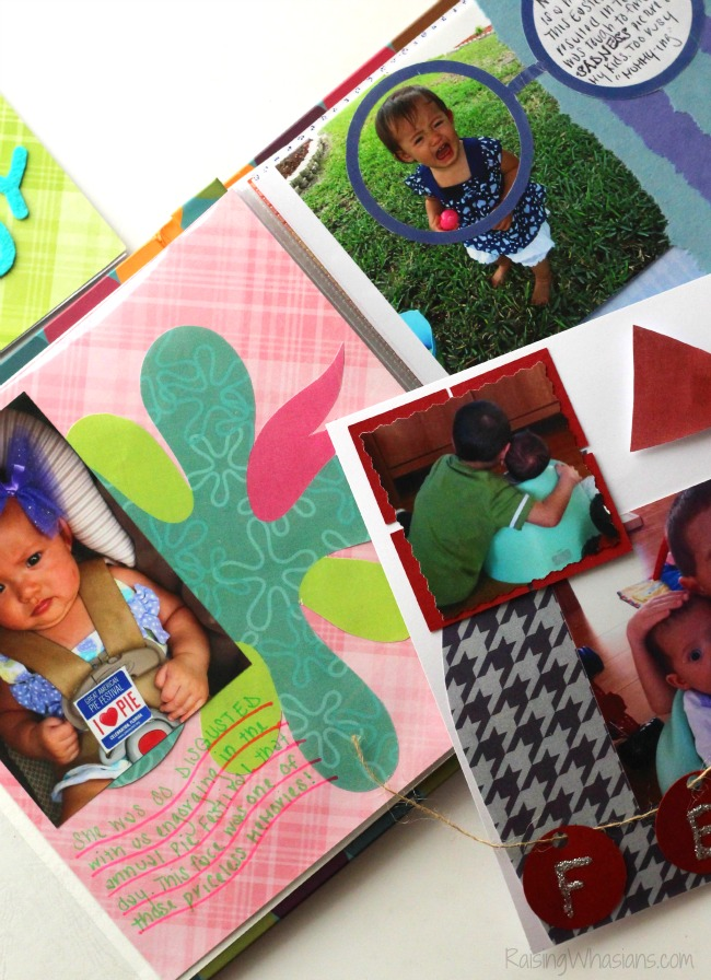 Inside out scrapbook kids