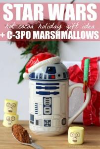Star wars hot cocoa holiday gift idea c3po marshmallows