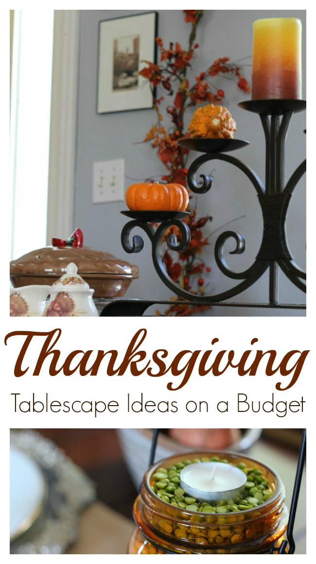 Thanksgiving tablescape ideas on a budget