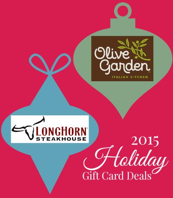 2015 holiday gift card deals at olive garden longhorn - Olive garden restaurant specials ...