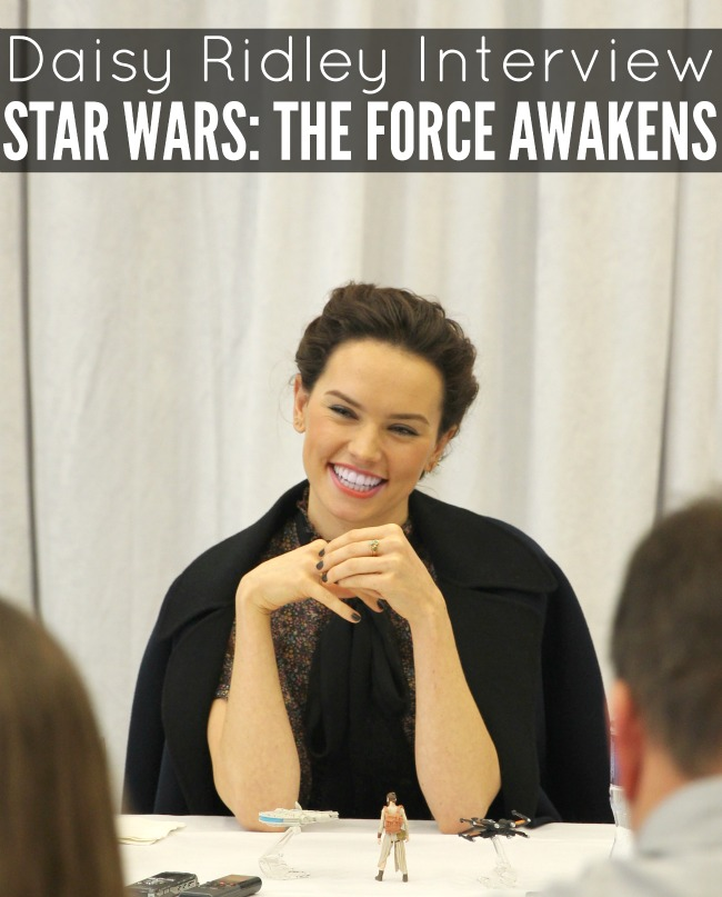 Daisy ridley interview star wars the force awakens