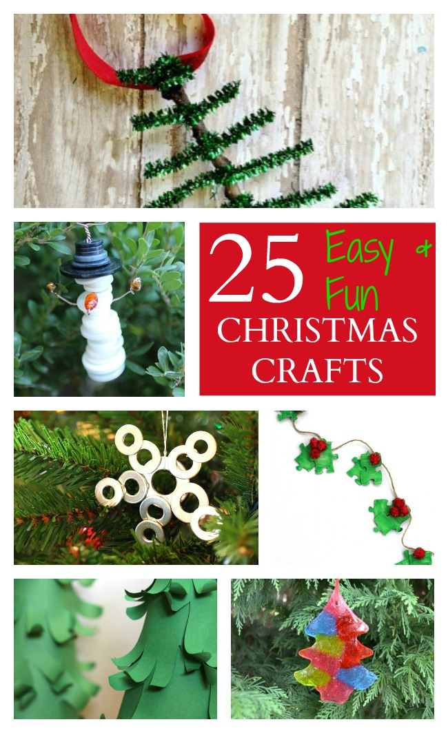 25 easy fun christmas crafts for kids raising whasians for Fun easy holiday crafts
