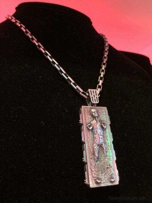 Han solo in carbonite necklace