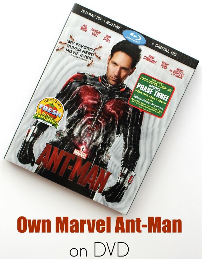 Marvel ant-man on dvd