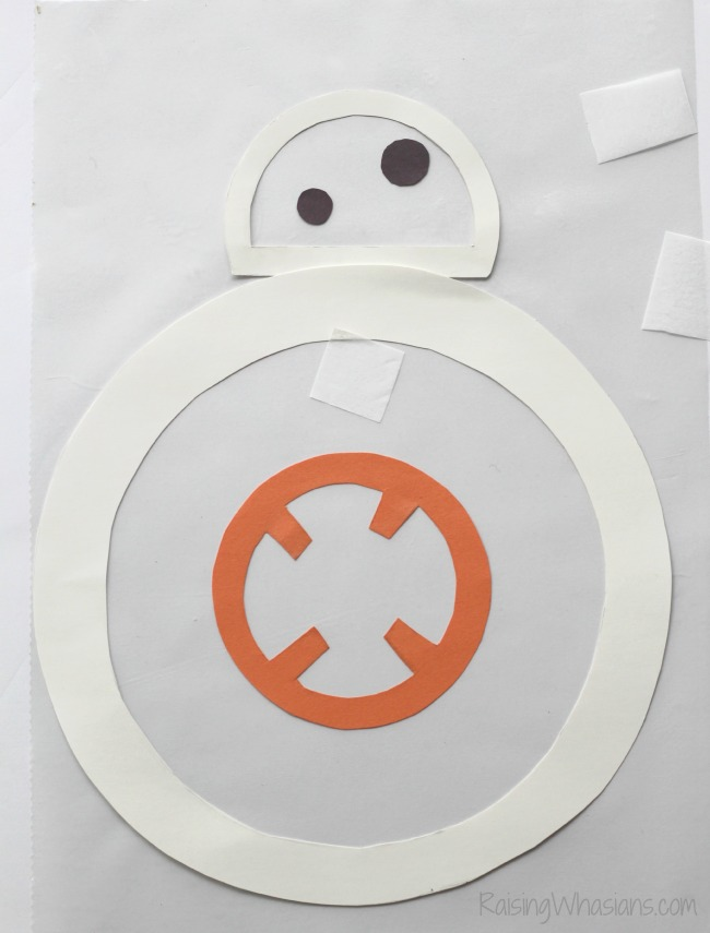 Stained glass bb-8 kids craft
