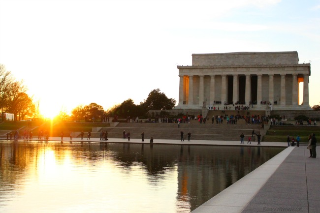 Sunset Lincolm memorial