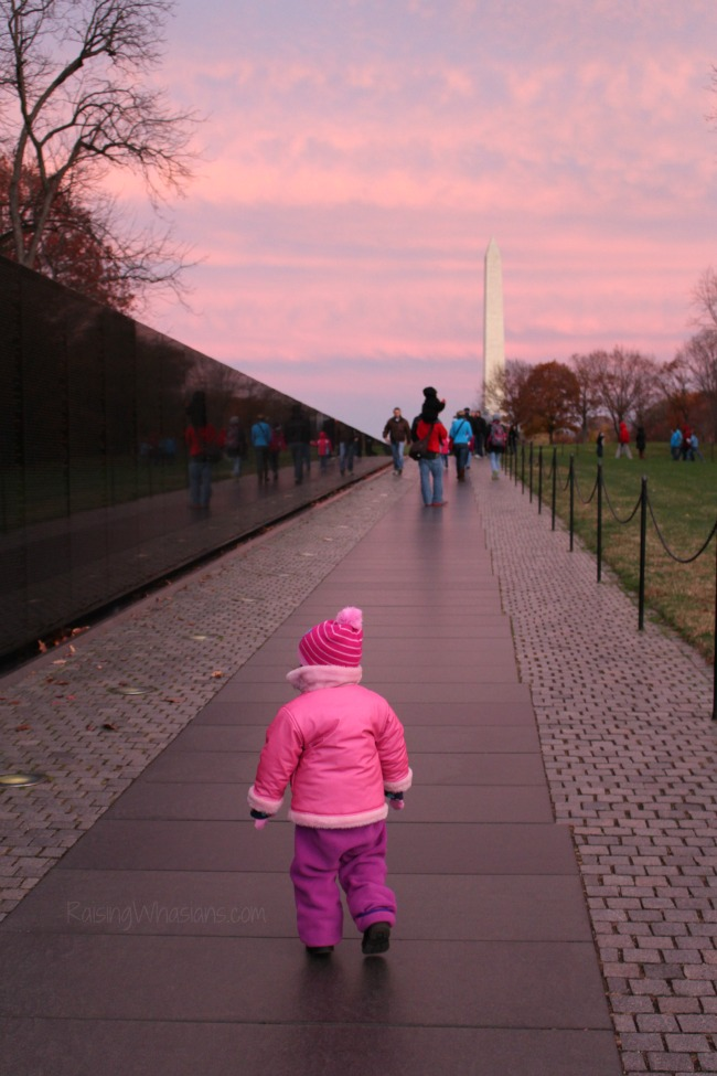 Sunset Vietnam memorial