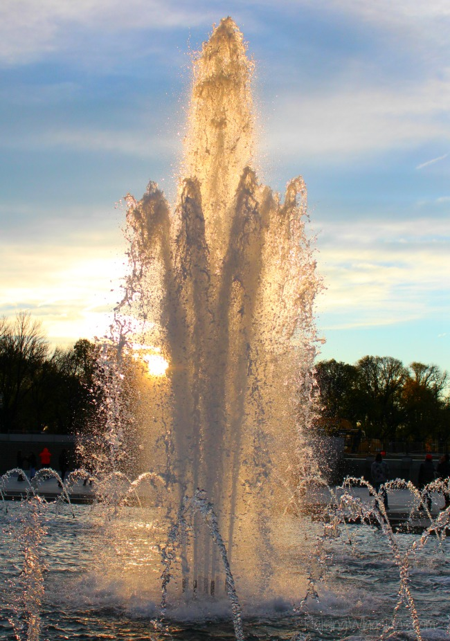 WWII memorial fountain