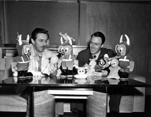 Walt Disney and Roald Dahl
