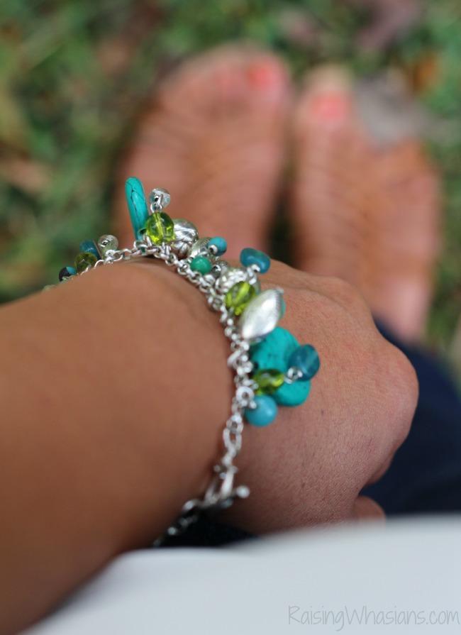 World vision turquoise bracelet