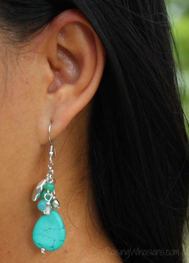 World vision turquoise earrings