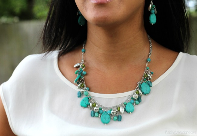 World vision turquoise necklace