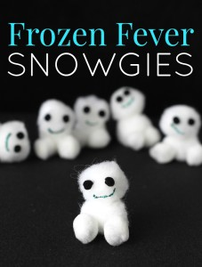 DIY Disney frozen fever snowgies kids craft