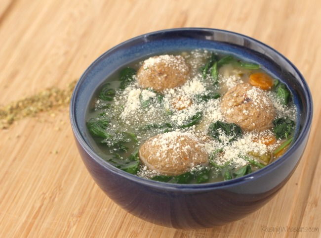 Gluten free crockpot meatball soup Gluten-Free Slow Cooker Italian Wedding Soup Recipe | A delicious healthier twist on a hearty soup for the family, made in your crock pot, no gluten #Recipe #SlowCooker #Soup #EasyRecipe #GlutenFree #GlutenFreeRecipe