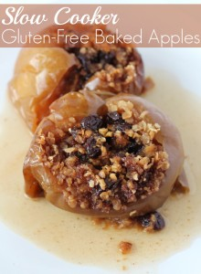 Gluten free slow cooker baked apples recipe