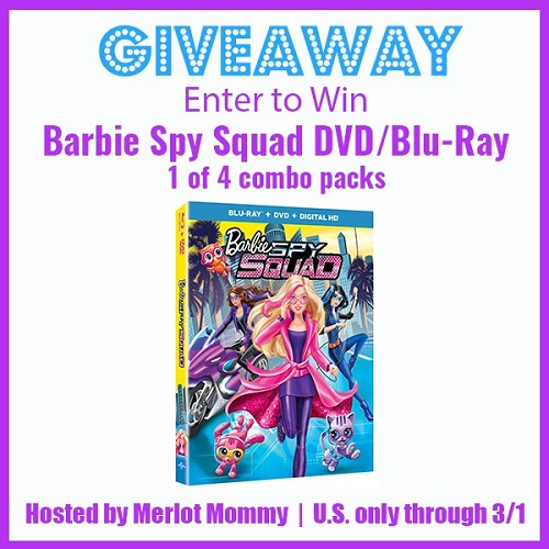 Barbie spy squad blu-ray giveaway