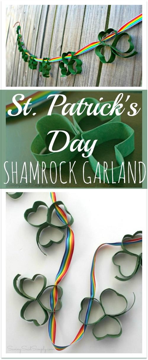 Easy St. Patricks day shamrock garland