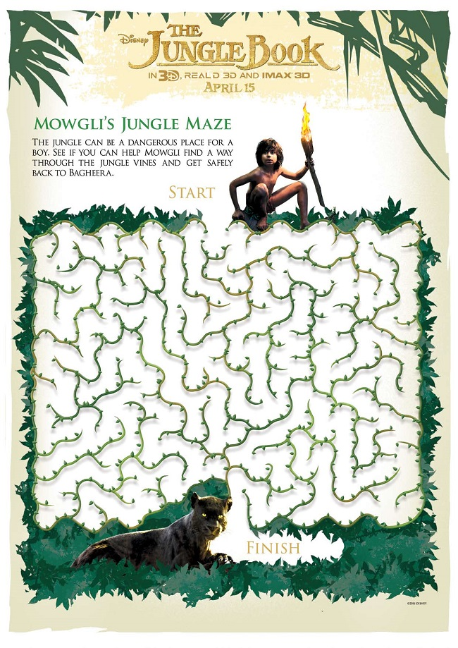 Free Disney jungle book printables for kids