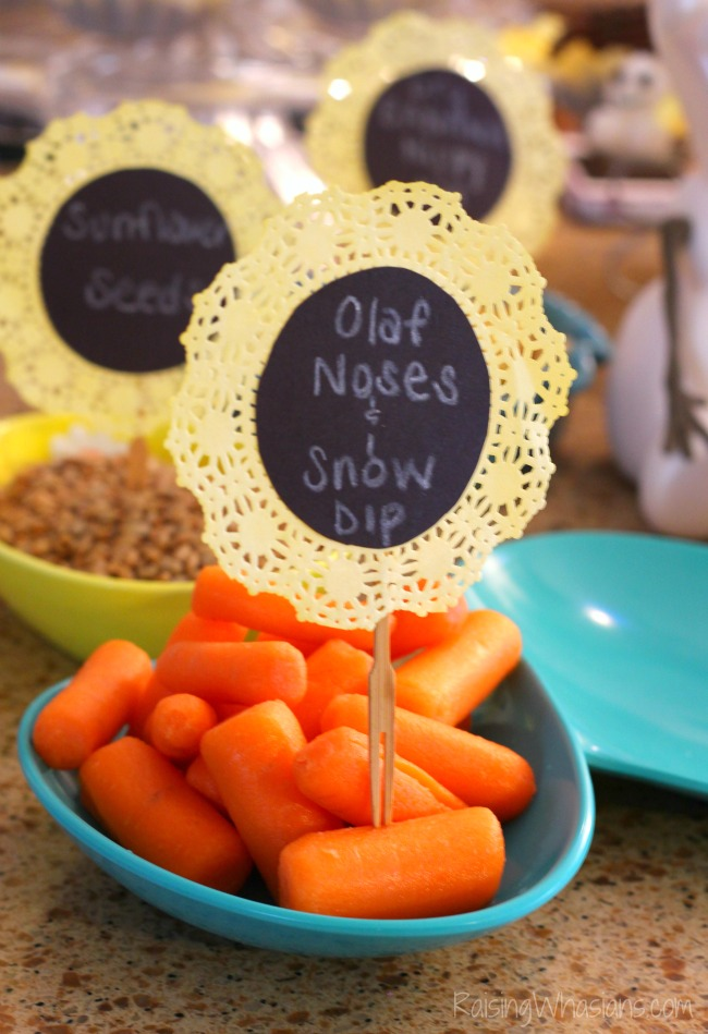 Frozen fever birthday party food ideas